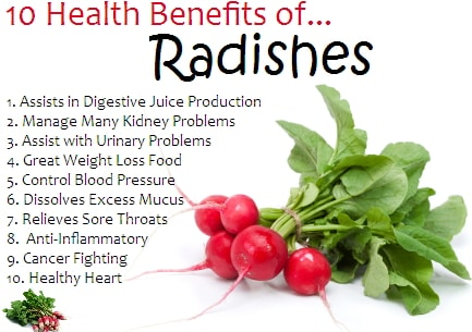 health benefits of black radish plant seed juice