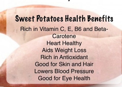 health benefits sweet potatoes men