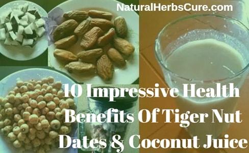 health benefits of tiger nut dates coconut juice