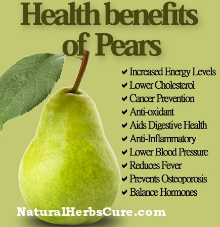 health benefits of eating pears