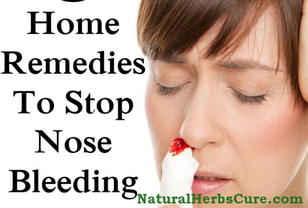 how to stop nose bleeding