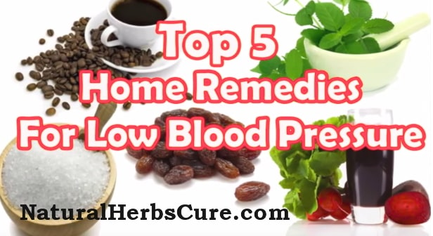 low blood pressure natural cure home remedies
