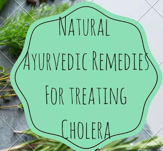 ayurvedic treatment cholera