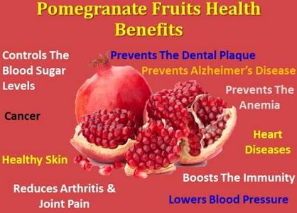 health benefits of pomegranate fruits